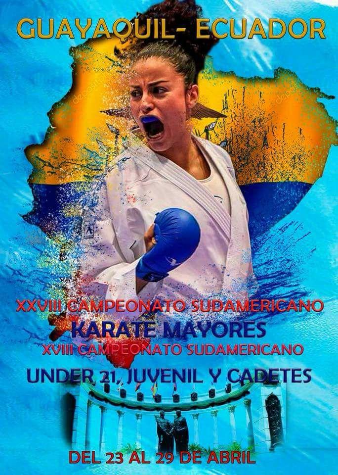 Participación en XXVIII Campeonato Sudamericano de Karate WKF.